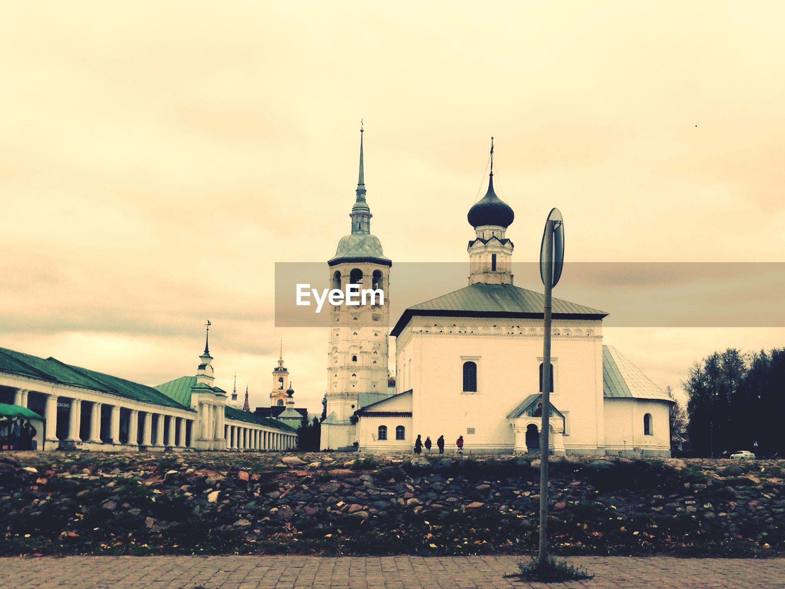 Orthodox church during sunset