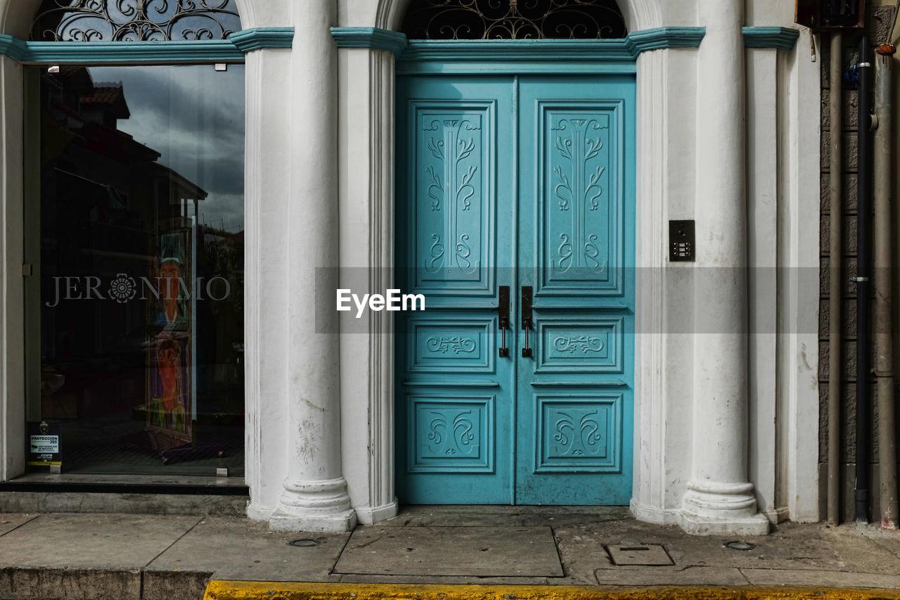 CLOSED DOOR OF ENTRANCE