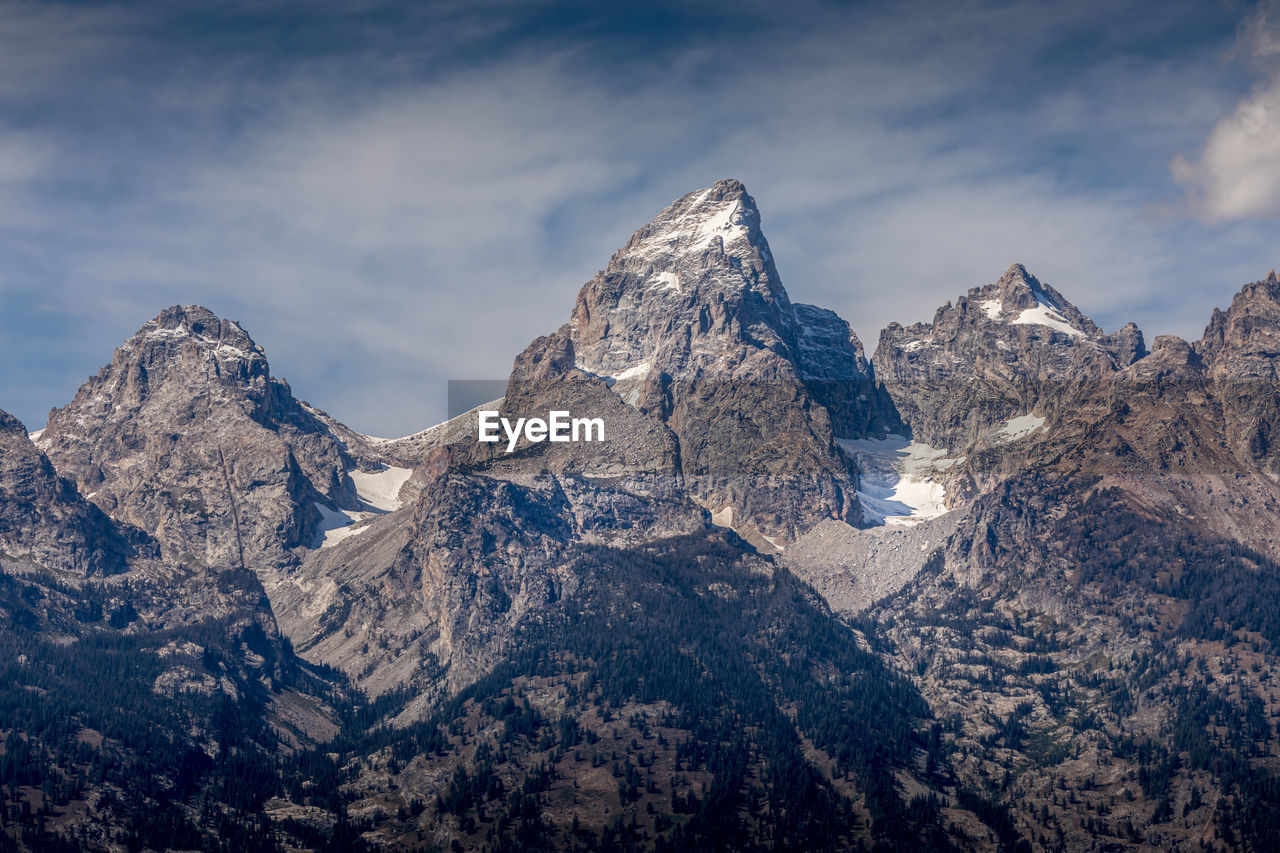 Grand tetons mountain peaks, wyoming