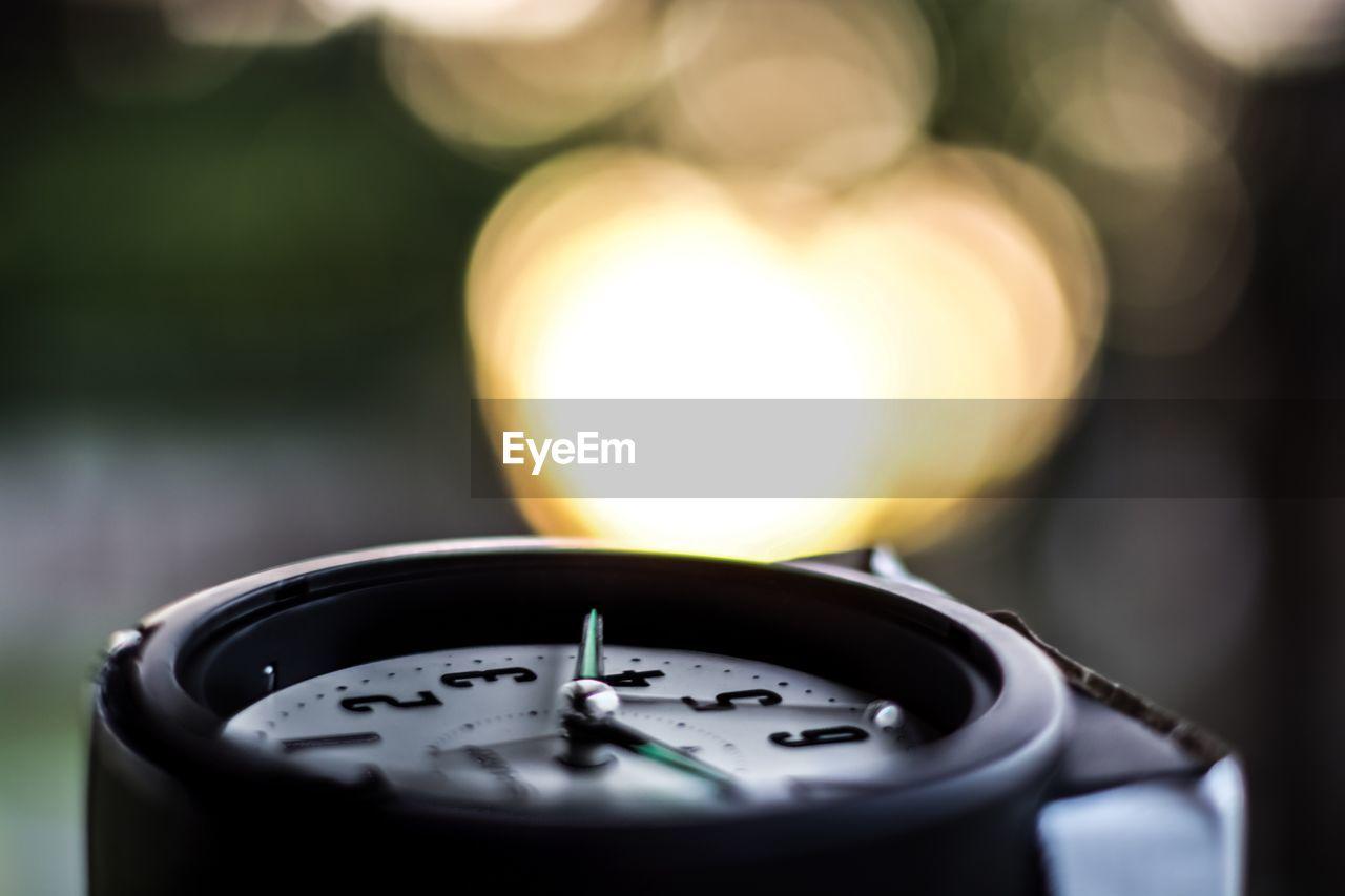 Close-up of broken clock