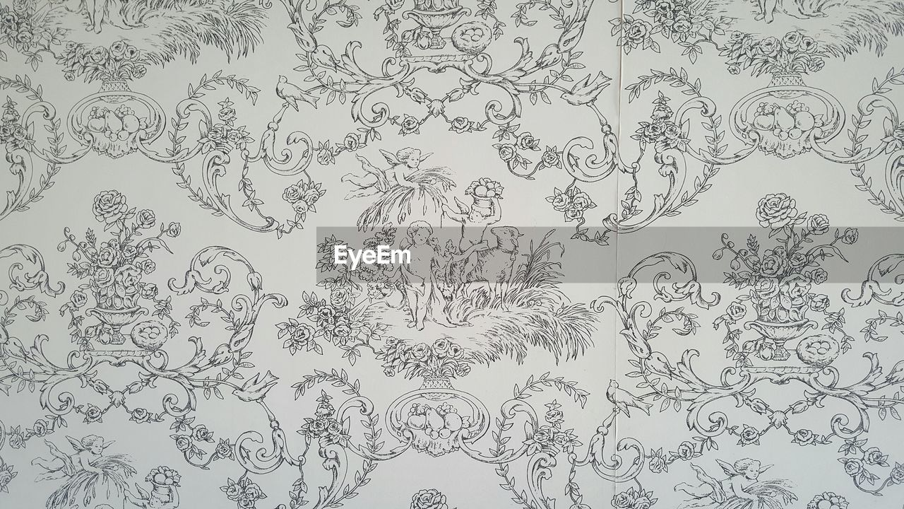floral pattern, pattern, backgrounds, no people, day