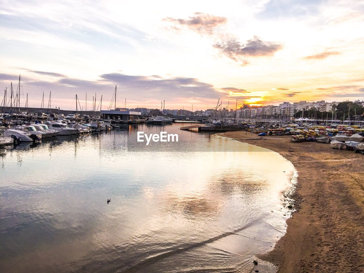 water, sky, nautical vessel, sunset, moored, transportation, mode of transport, cloud - sky, reflection, harbor, sea, no people, nature, outdoors, beauty in nature, scenics, architecture, day