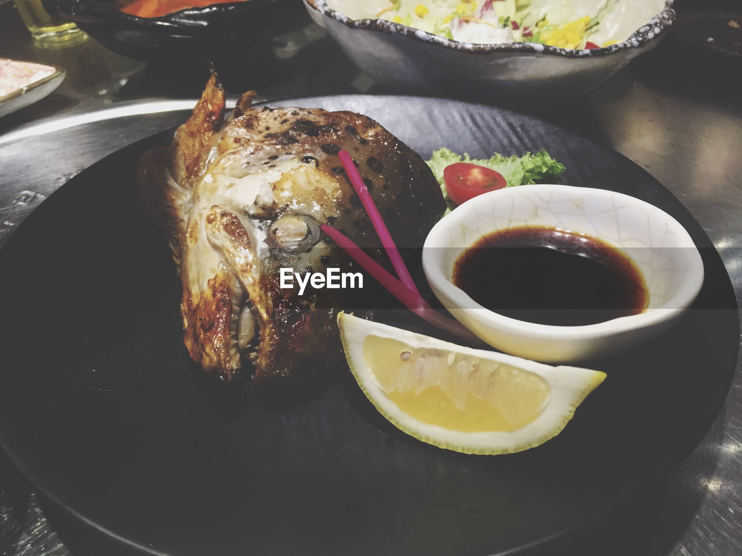 food, food and drink, lemon, freshness, healthy eating, plate, serving size, ready-to-eat, no people, seafood, meal, slice, bowl, meat, close-up, indoors, cooked, day