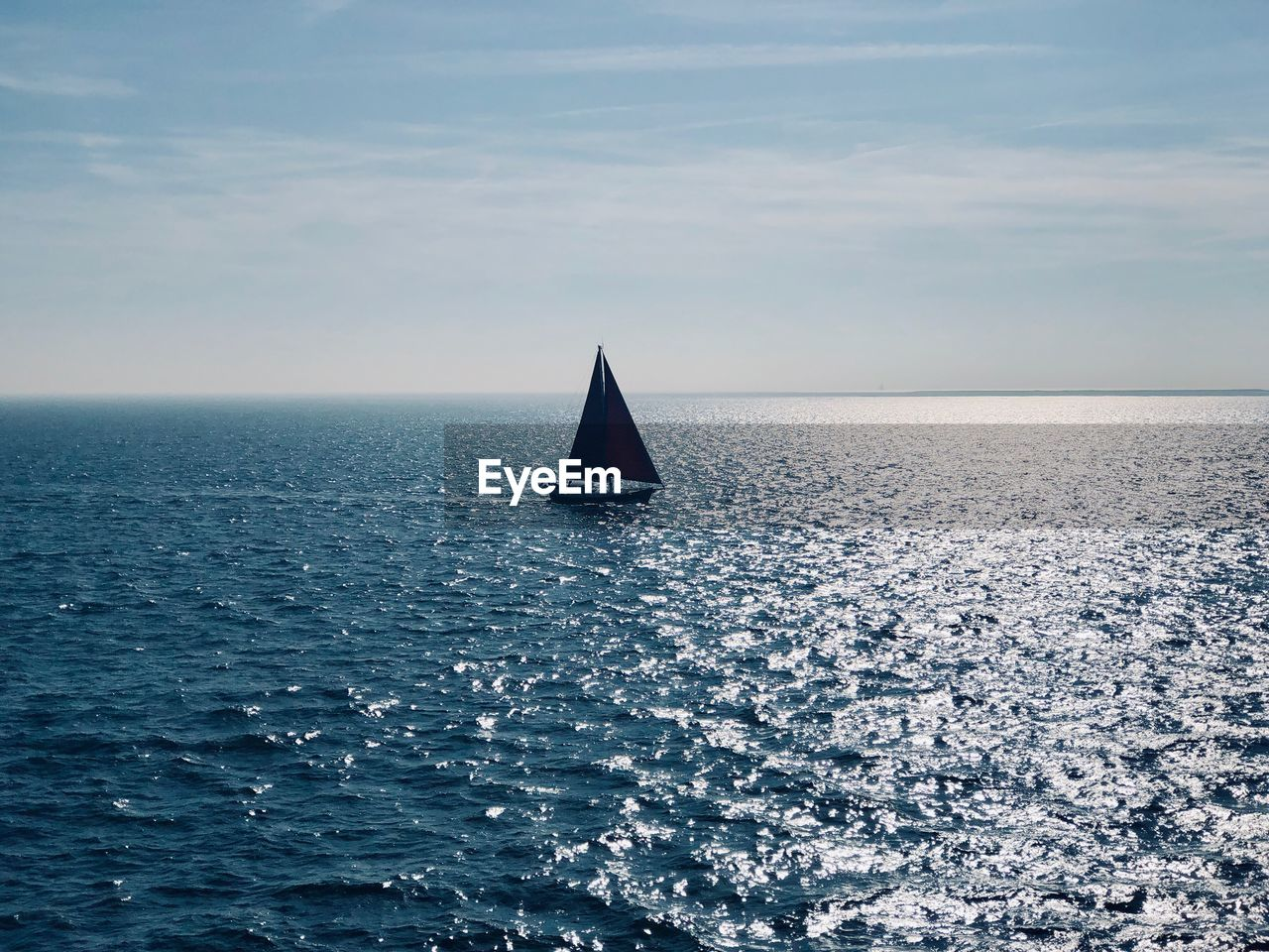 sea, water, horizon, horizon over water, sky, scenics - nature, nautical vessel, sailboat, waterfront, transportation, beauty in nature, sailing, nature, mode of transportation, tranquility, tranquil scene, no people, cloud - sky, day, outdoors