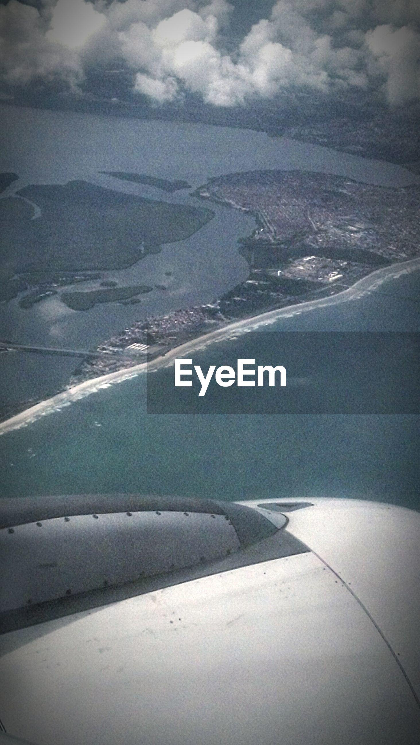 Landscape seen through airplane