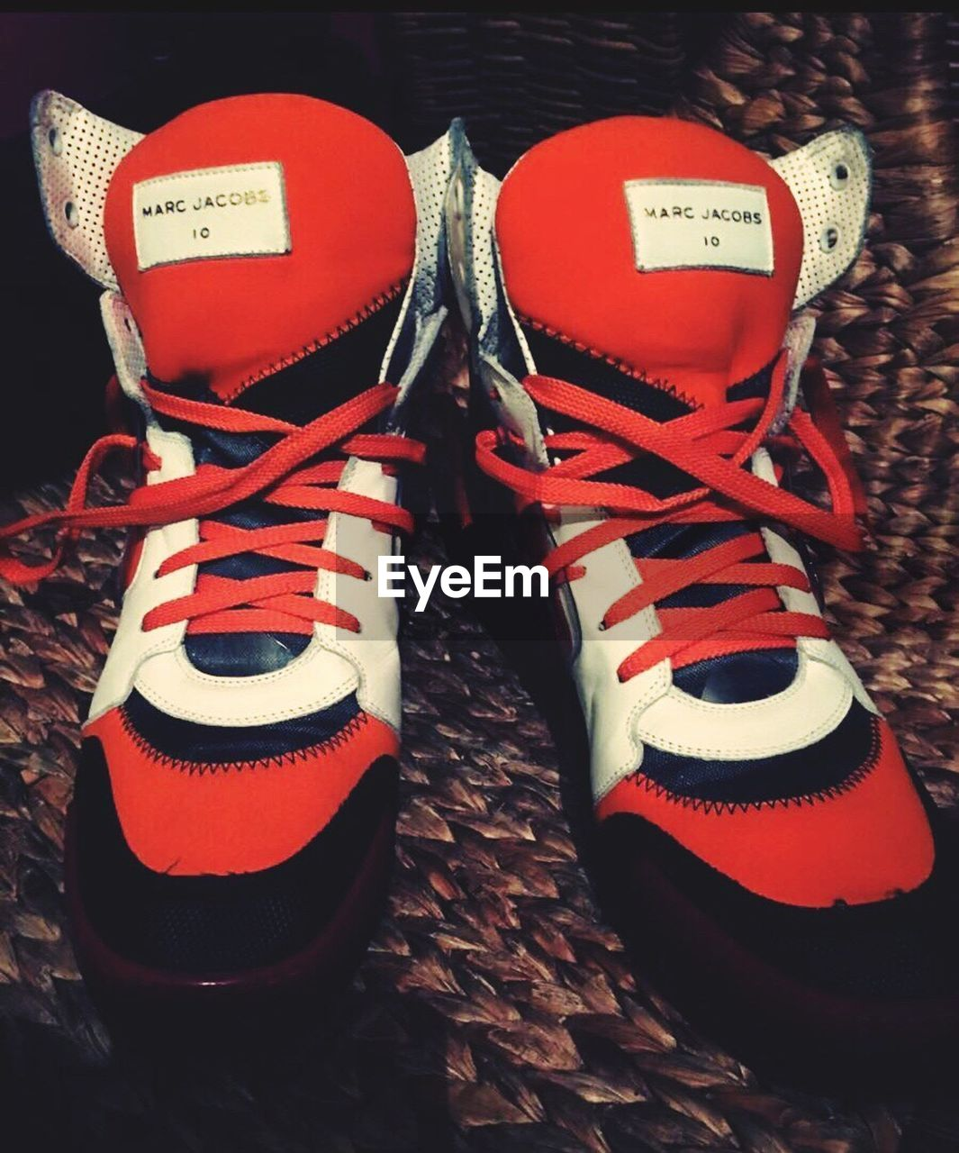 pair, no people, shoe, shoelace, indoors, high angle view, close-up, day