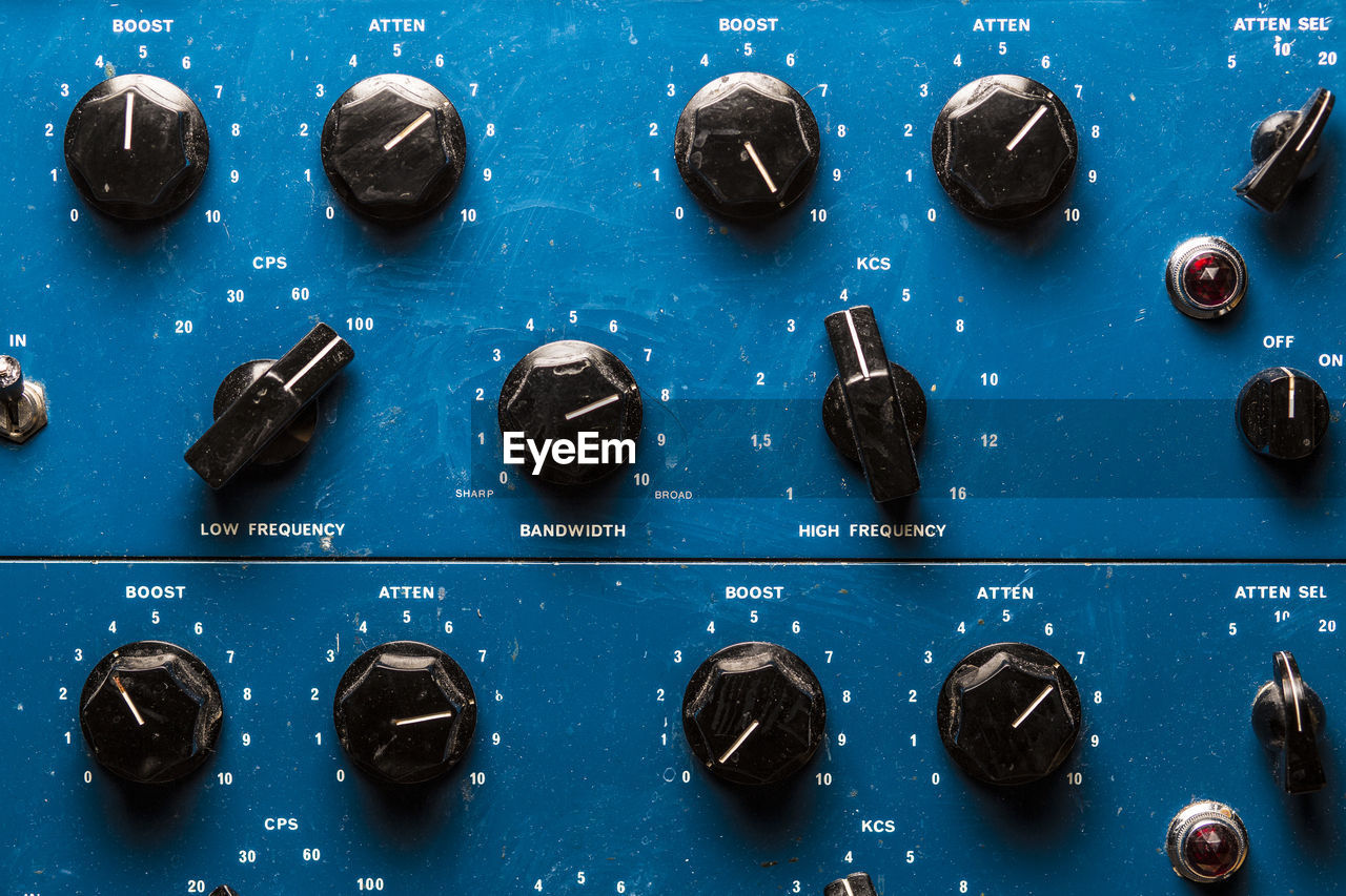 Knobs Of Control Panel In Studio