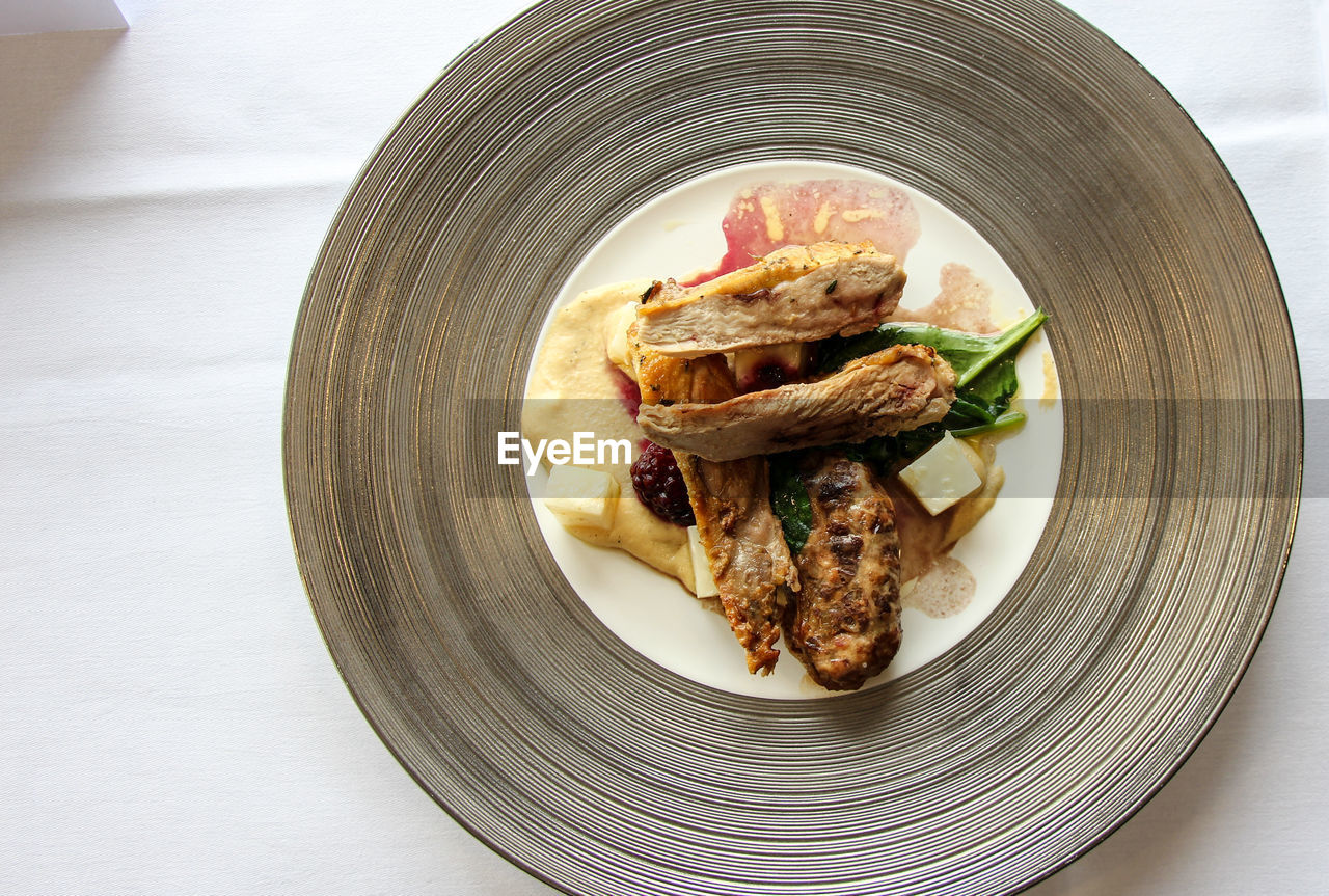 Close-Up Of Food In Plate On Table