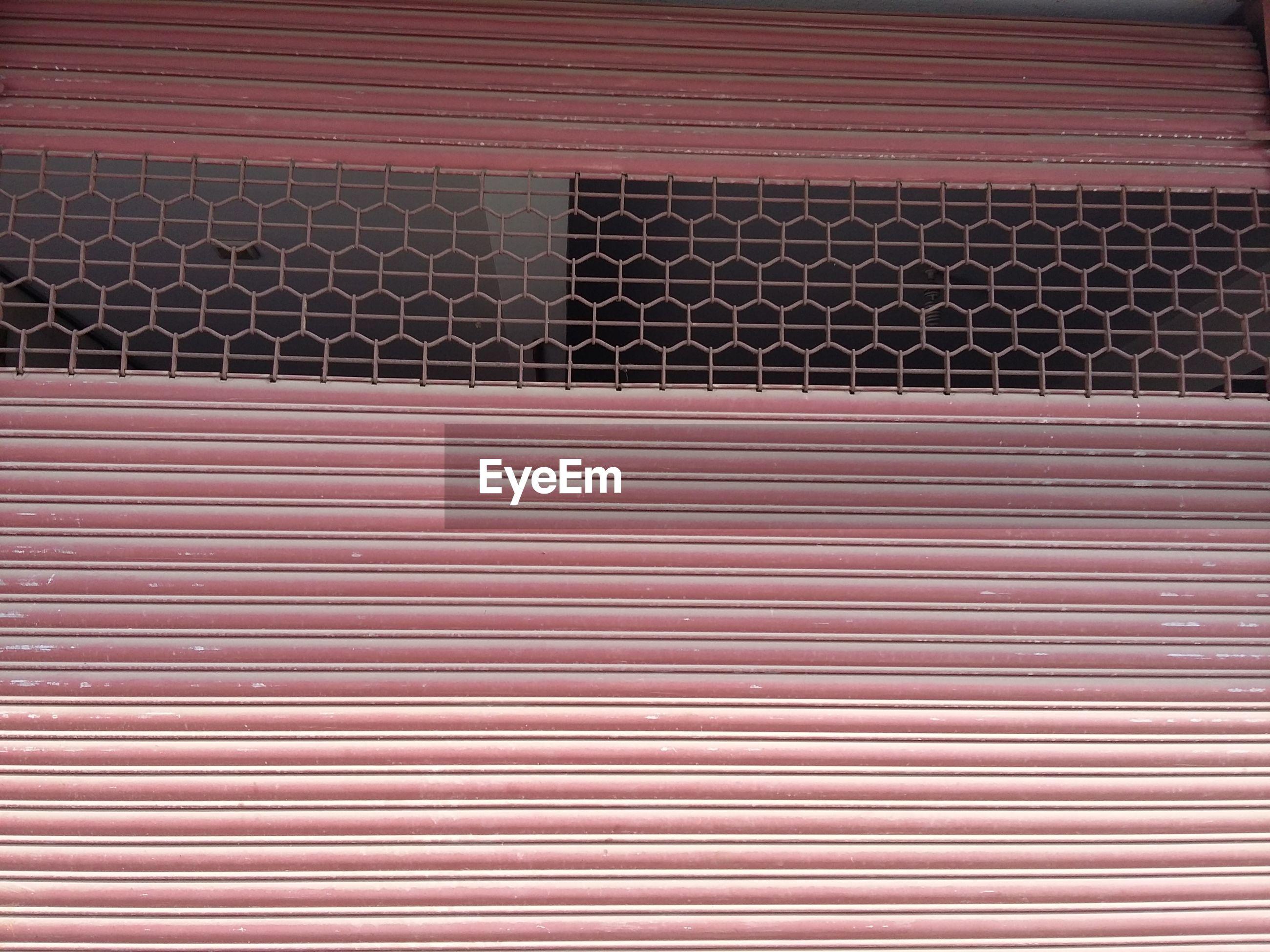 Full frame shot of closed shutter