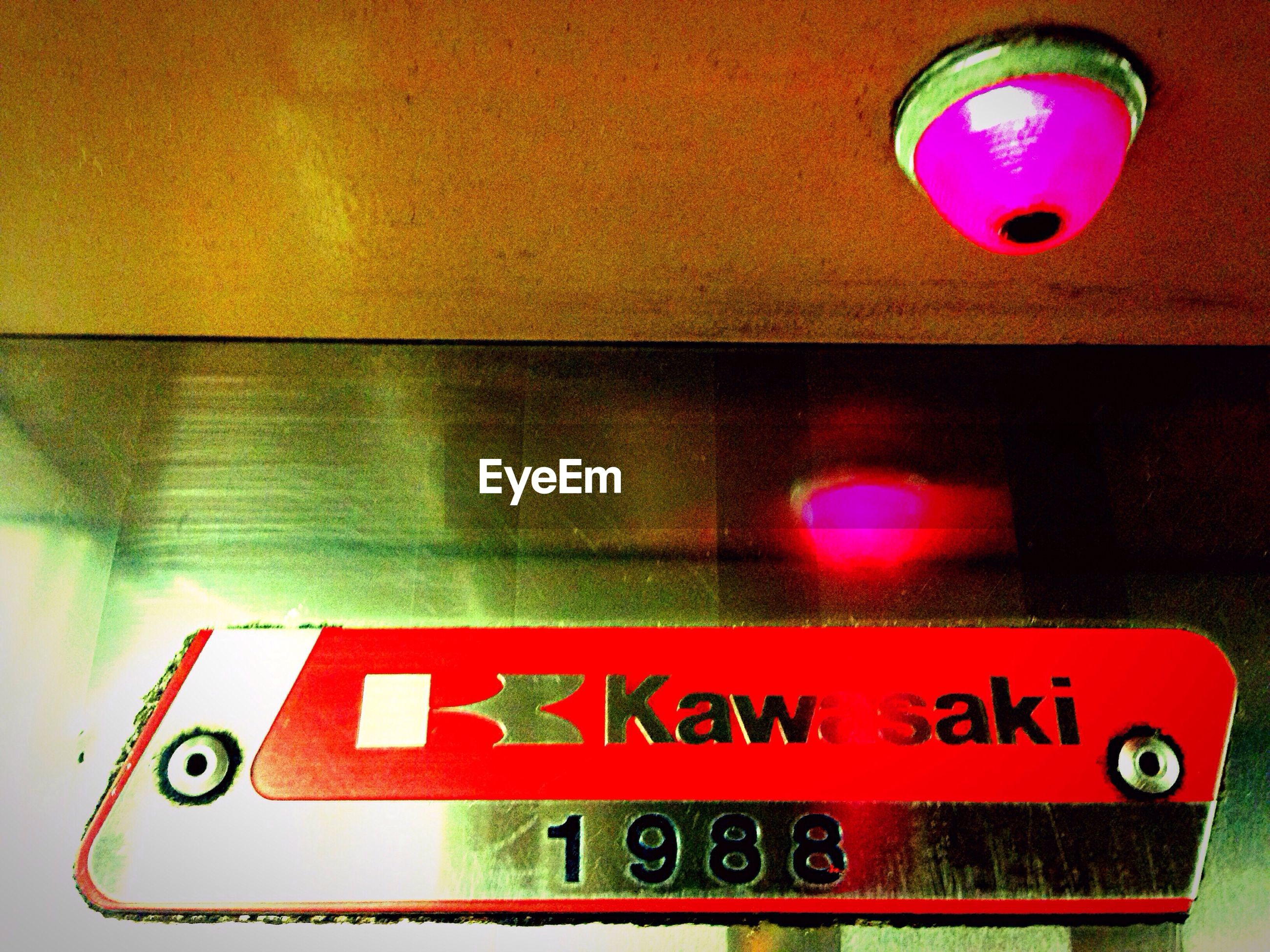 communication, western script, red, text, illuminated, close-up, indoors, information sign, symbol, green color, no people, circle