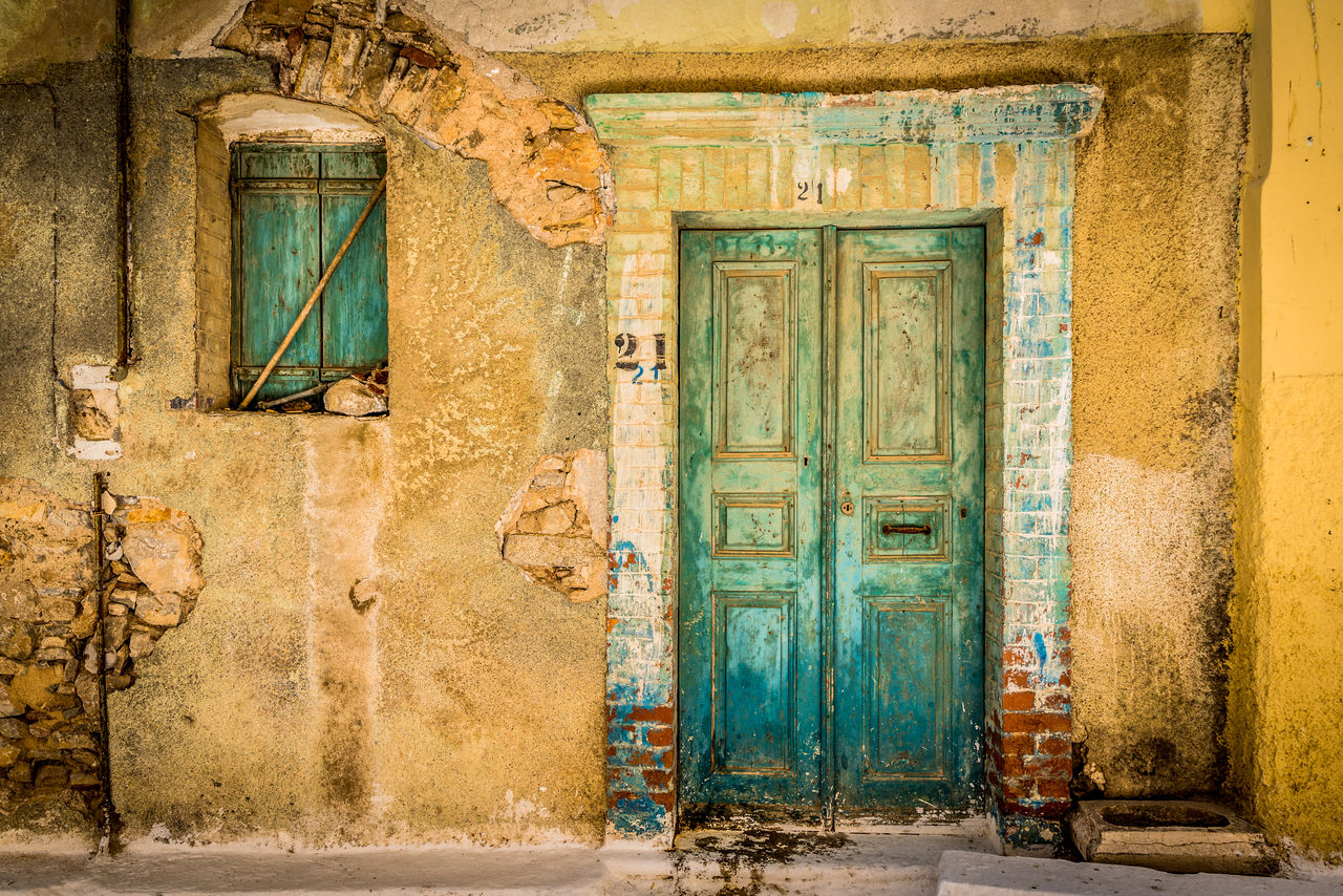 door, entrance, architecture, building exterior, building, built structure, old, no people, abandoned, closed, window, house, day, weathered, wall - building feature, history, outdoors, the past, travel destinations, deterioration