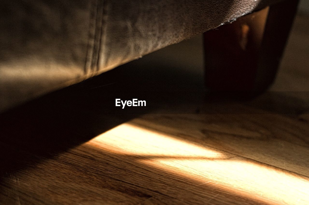 Sunlight Falling On Wooden Floor At Home