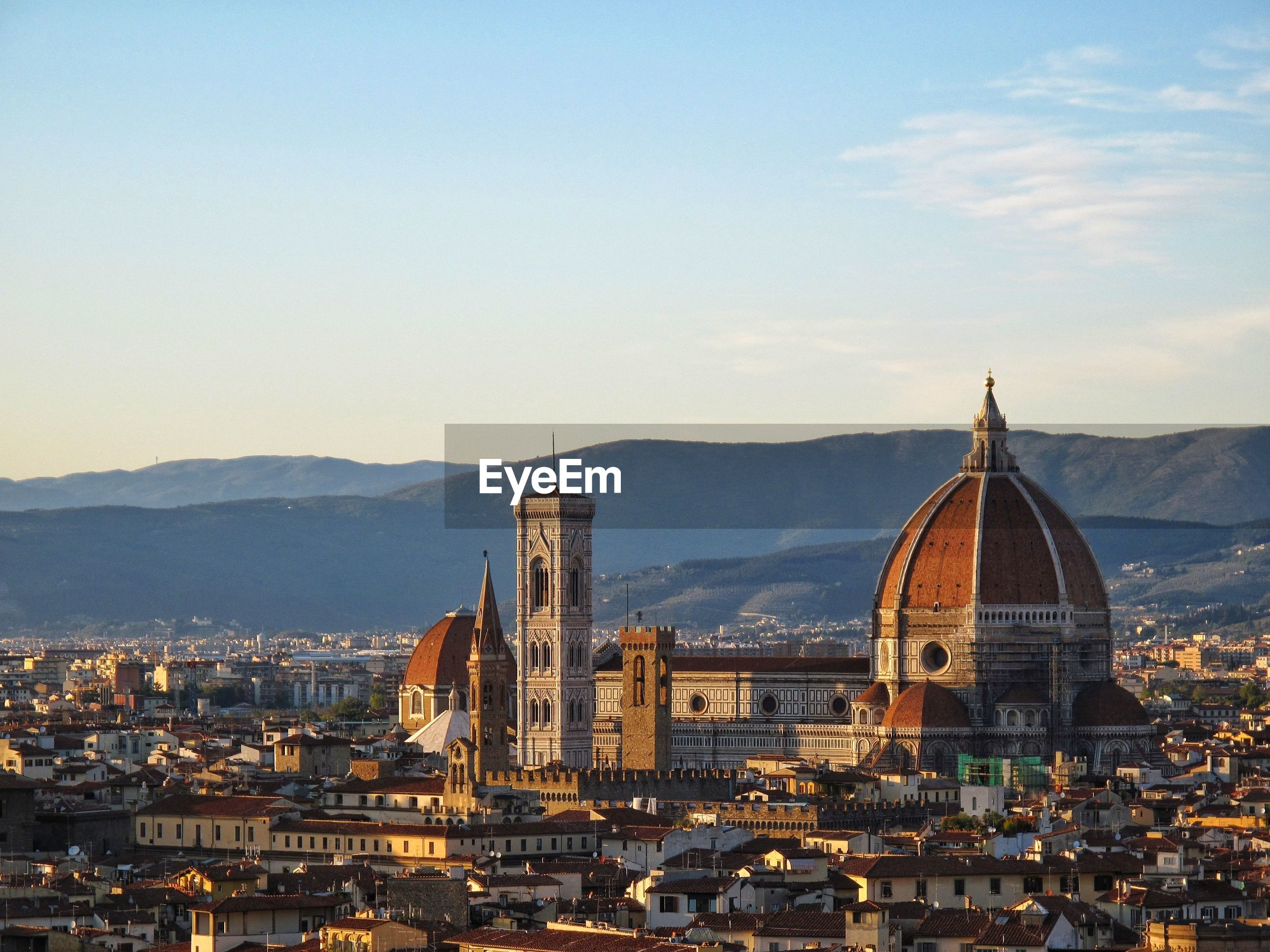 Florence cathedral against sky in city