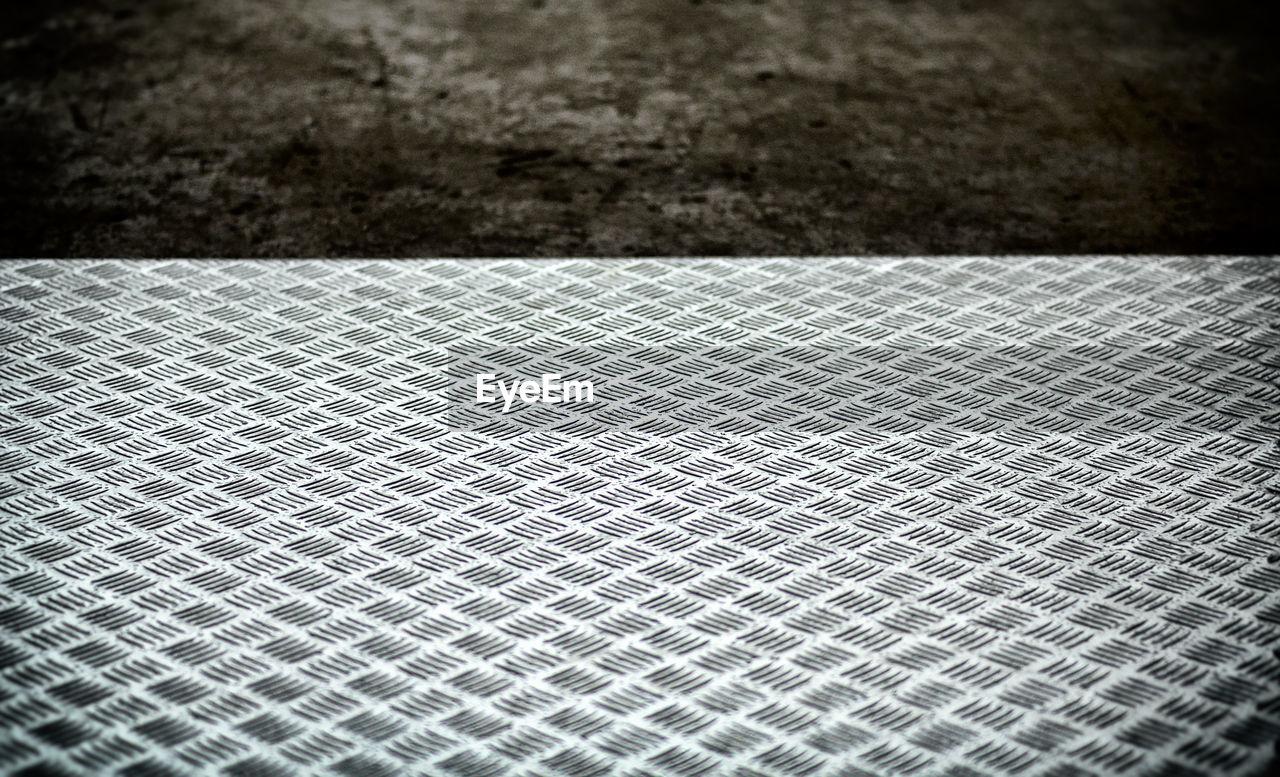High Angle View Of Diamond Plate