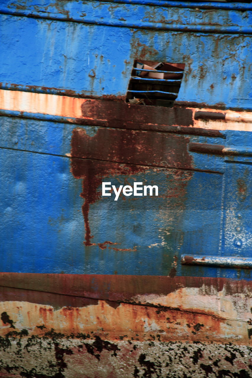 Close-up Of Old Rusty Boat
