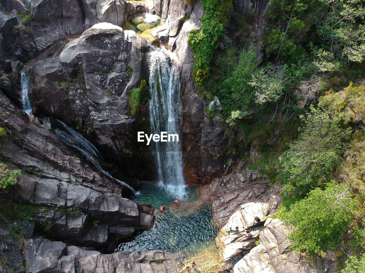 water, rock, waterfall, rock - object, scenics - nature, solid, beauty in nature, motion, flowing water, long exposure, rock formation, nature, forest, land, tree, blurred motion, non-urban scene, travel destinations, plant, outdoors, no people, power in nature, flowing, falling water, rainforest, formation