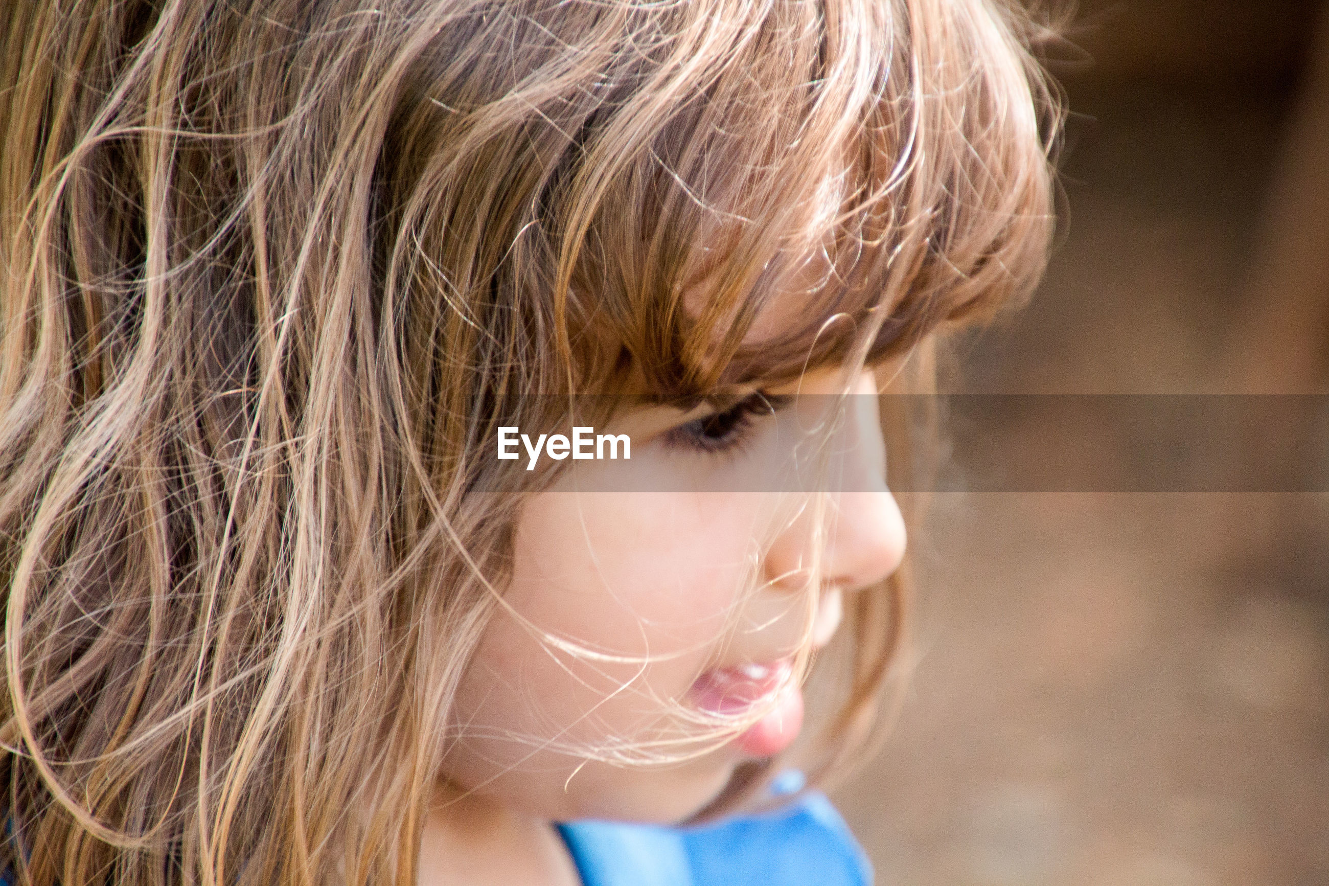 Close-up of girl looking away