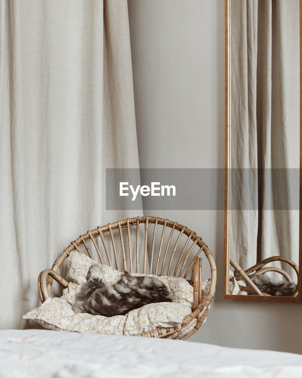 curtain, indoors, basket, no people, container, wicker, towel, textile, relaxation, home interior, still life, close-up, focus on foreground, table, home, domestic room, day, furniture, wall - building feature, luxury, tray