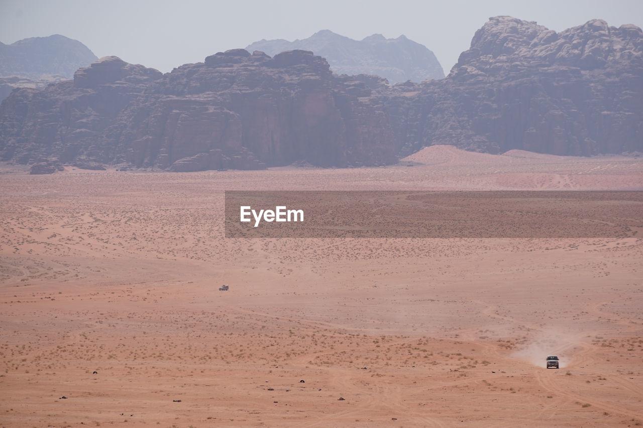 Off-Road Vehicle At Wadi Rum