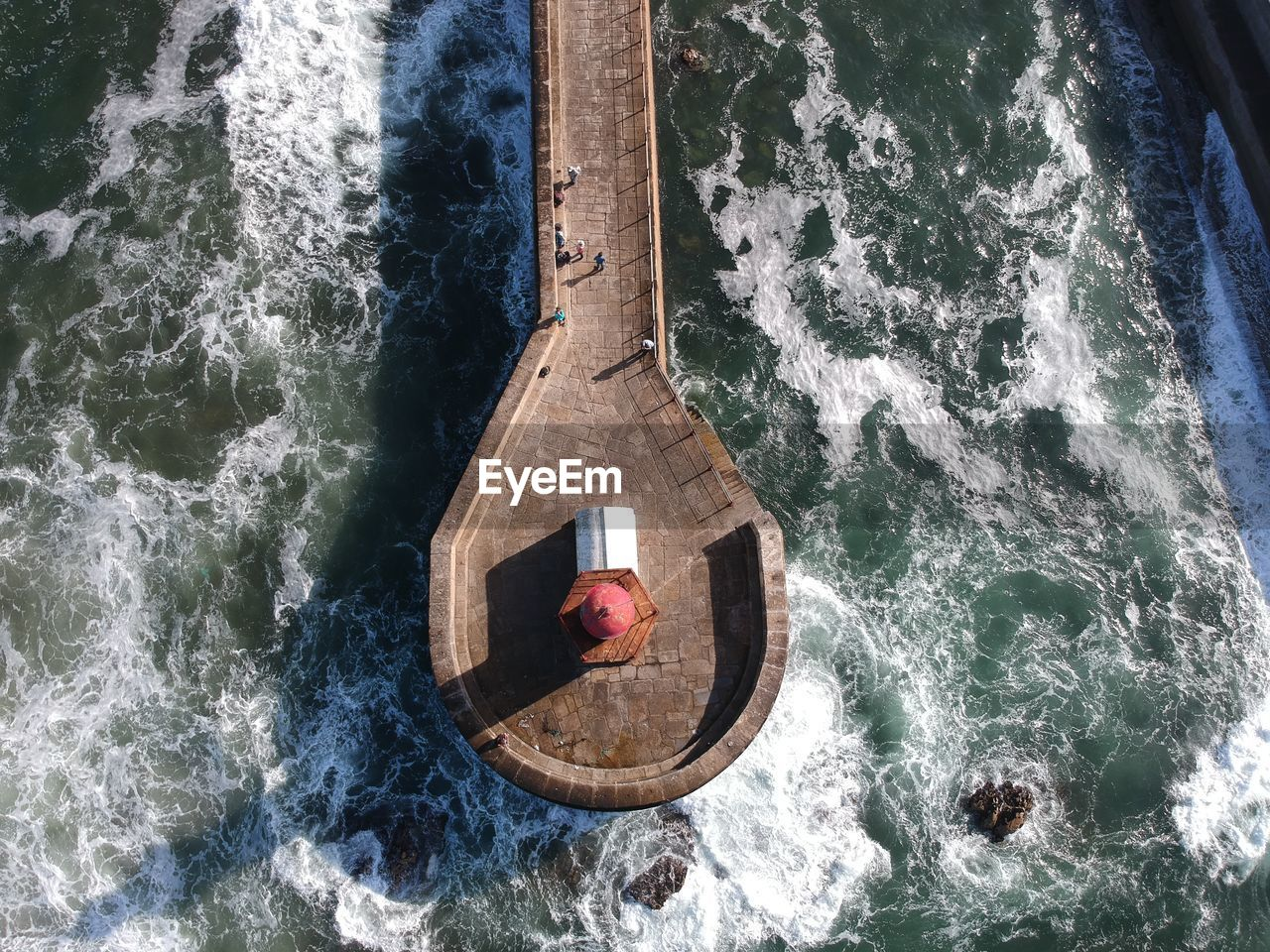 High Angle View Of Pier In Sea