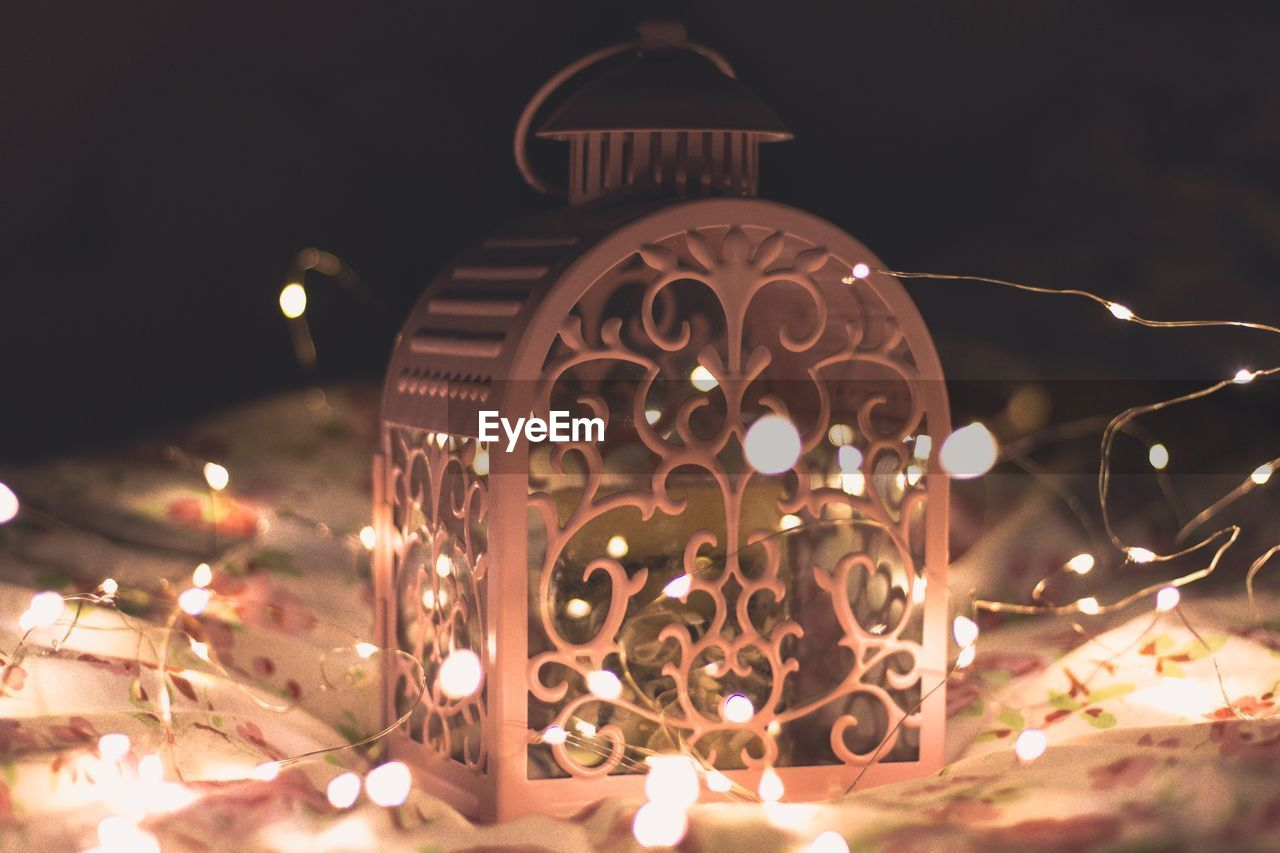 illuminated, lighting equipment, night, glowing, no people, close-up, electricity, christmas decoration, indoors