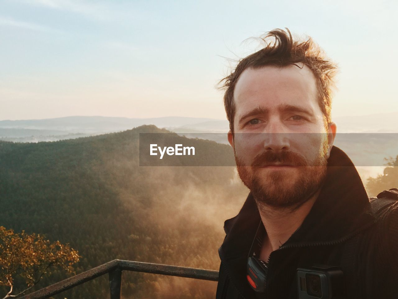 mountain, nature, beard, adventure, real people, scenics, landscape, one person, portrait, outdoors, young adult, beauty in nature, day, sky