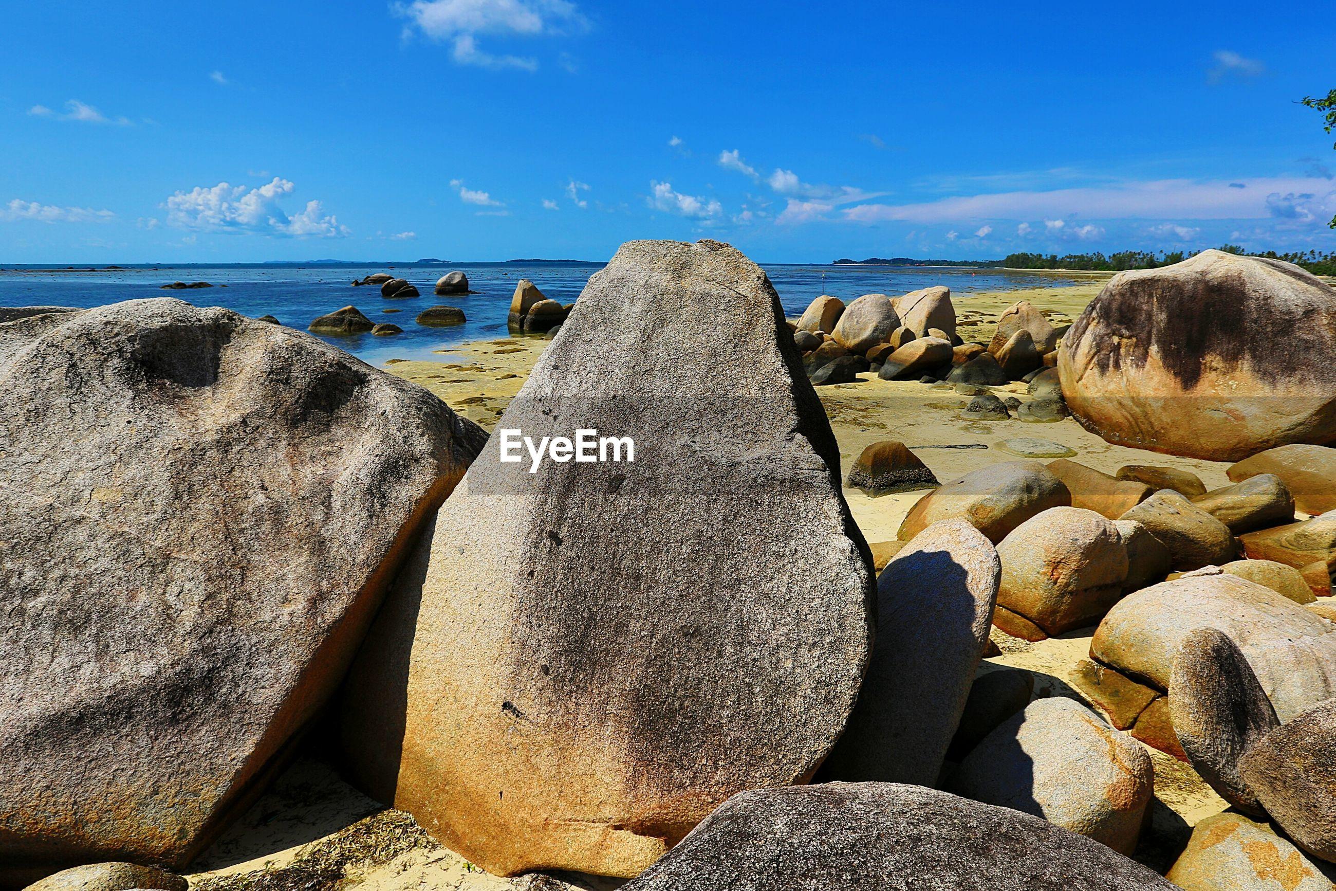 Rocks at beach