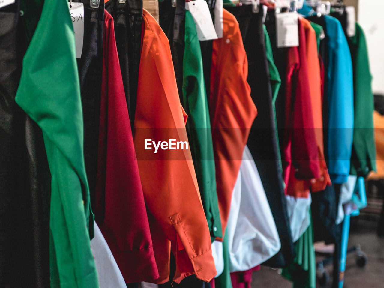 Various Clothing For Sale In Store
