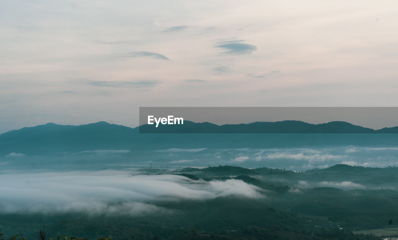 cloud - sky, sky, beauty in nature, tranquility, scenics - nature, tranquil scene, no people, nature, mountain, idyllic, non-urban scene, outdoors, sunset, mountain range, environment, remote, cloudscape, day, dramatic sky