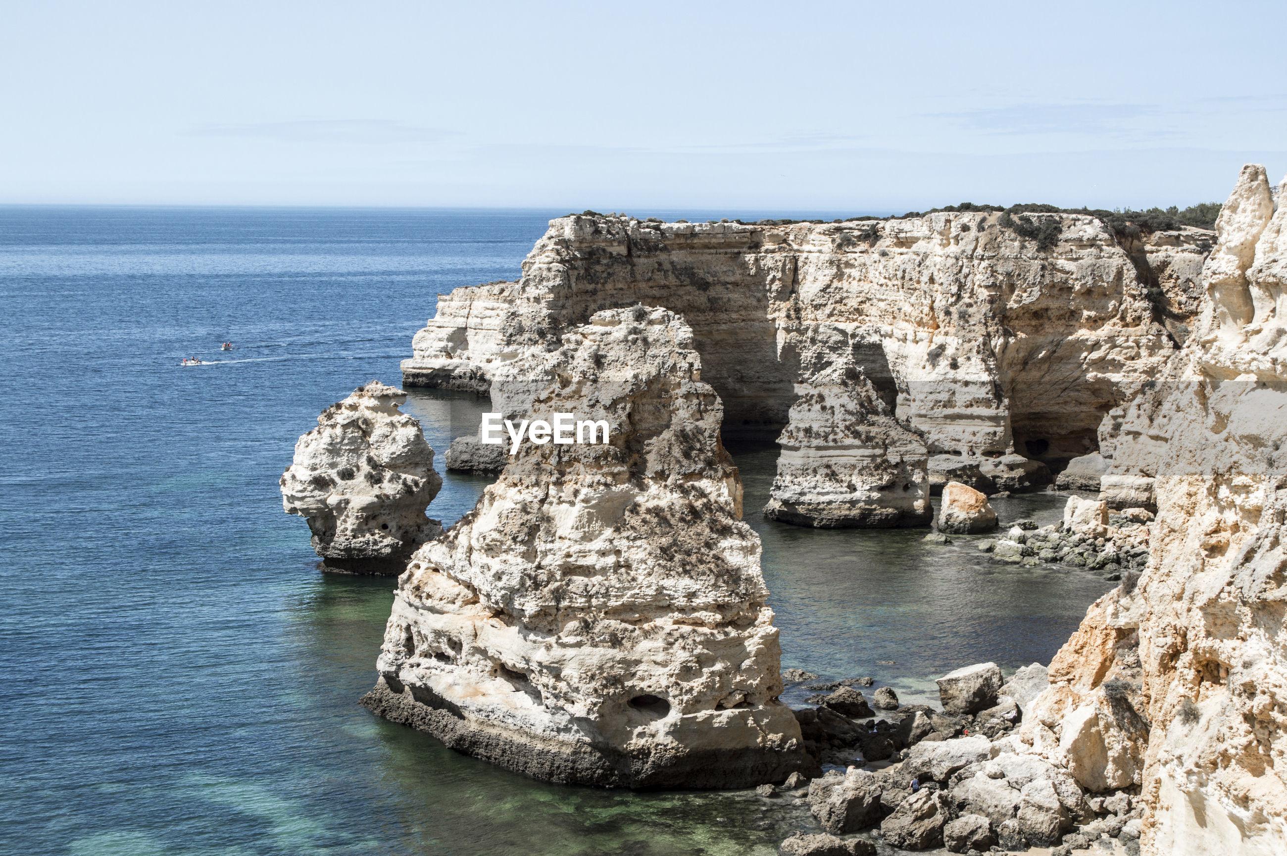 Cliffs on sea
