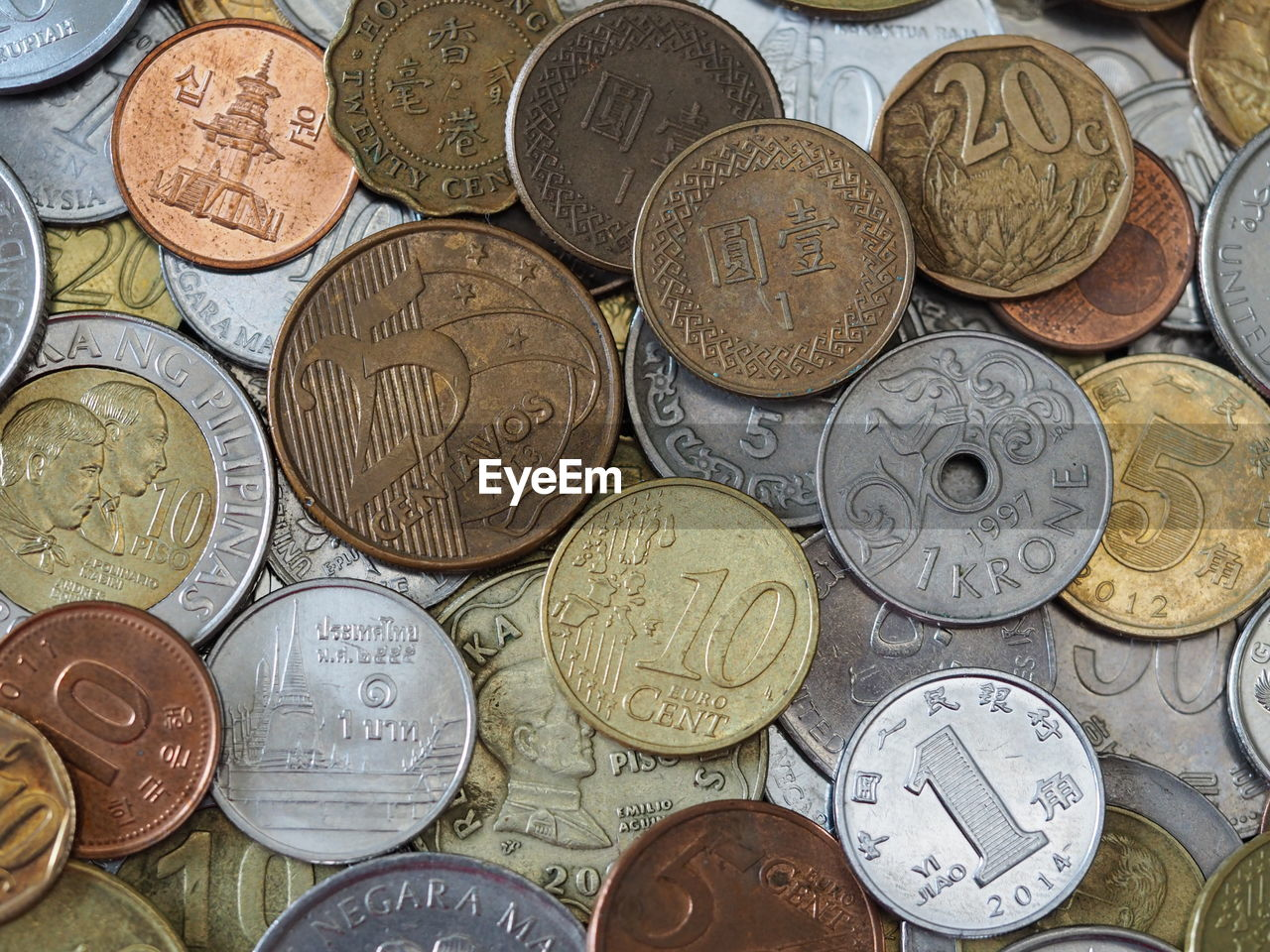 wealth, finance, coin, savings, currency, metal, backgrounds, large group of objects, gold colored, no people, indoors, close-up, day