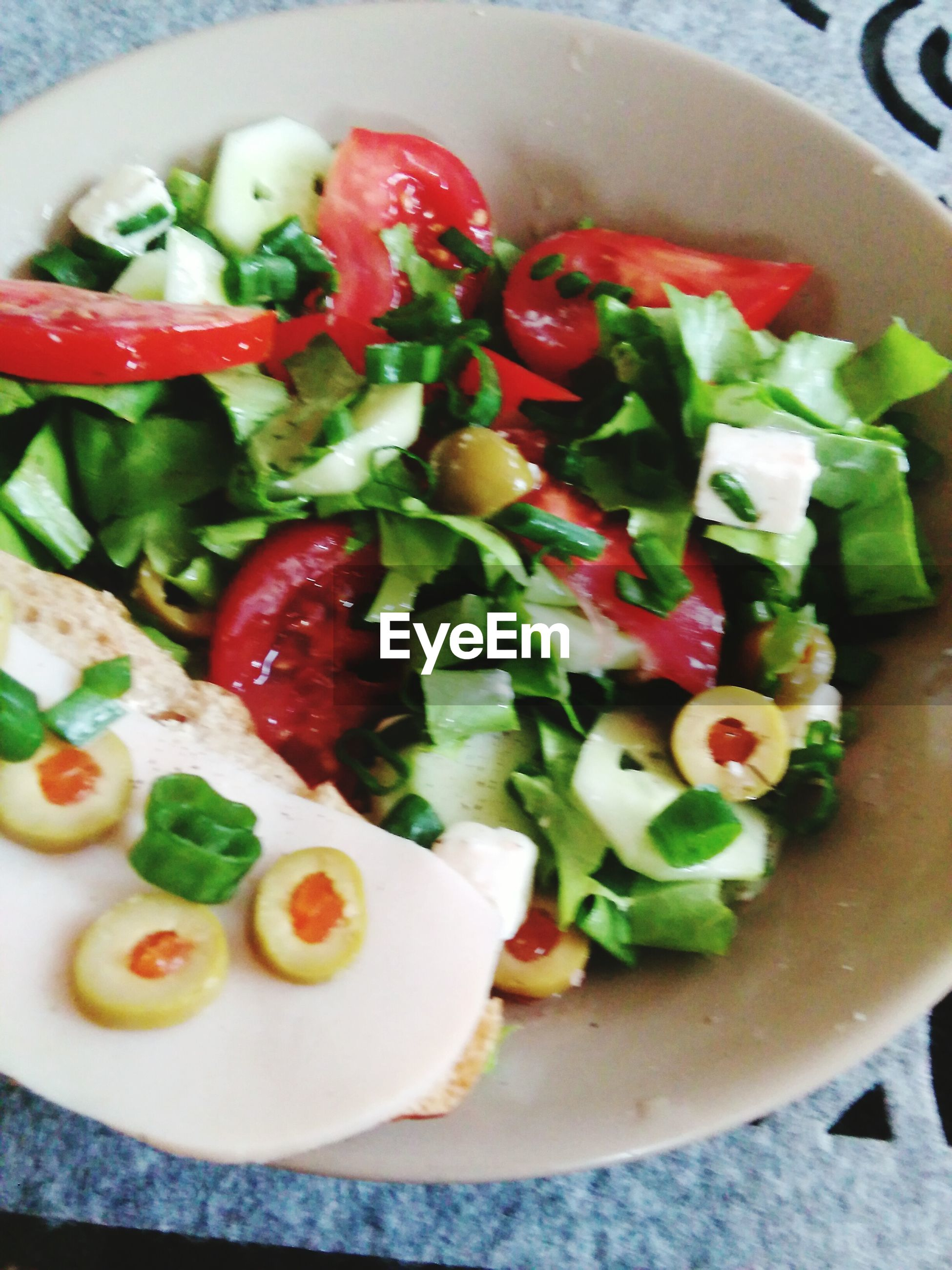 food, food and drink, freshness, indoors, healthy eating, plate, ready-to-eat, tomato, vegetable, salad, still life, close-up, serving size, meal, table, high angle view, bowl, indulgence, directly above, served