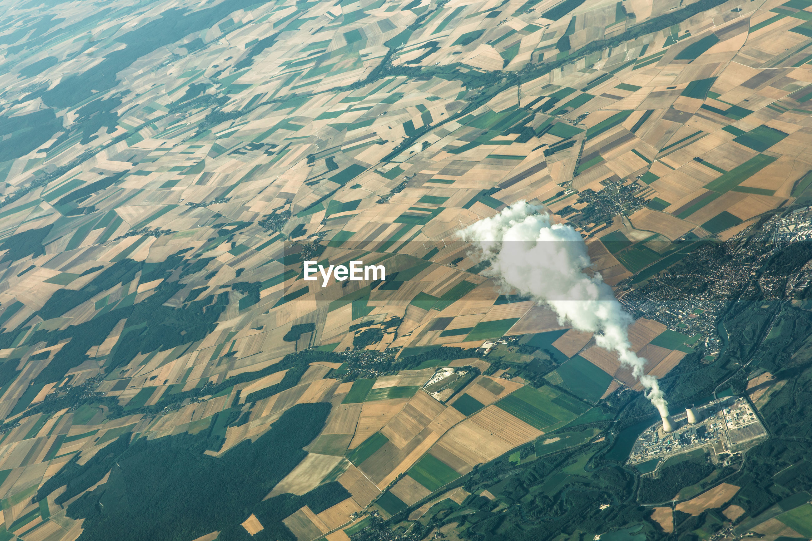AERIAL VIEW OF AGRICULTURAL LAND AND LANDSCAPE