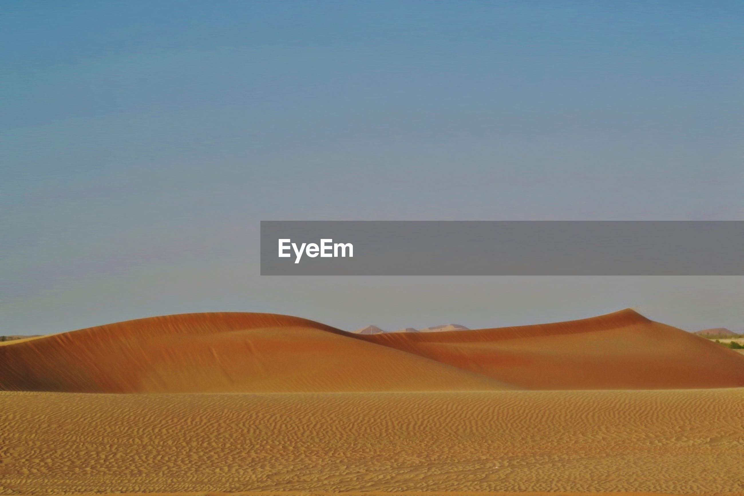 VIEW OF DESERT AGAINST CLEAR SKY