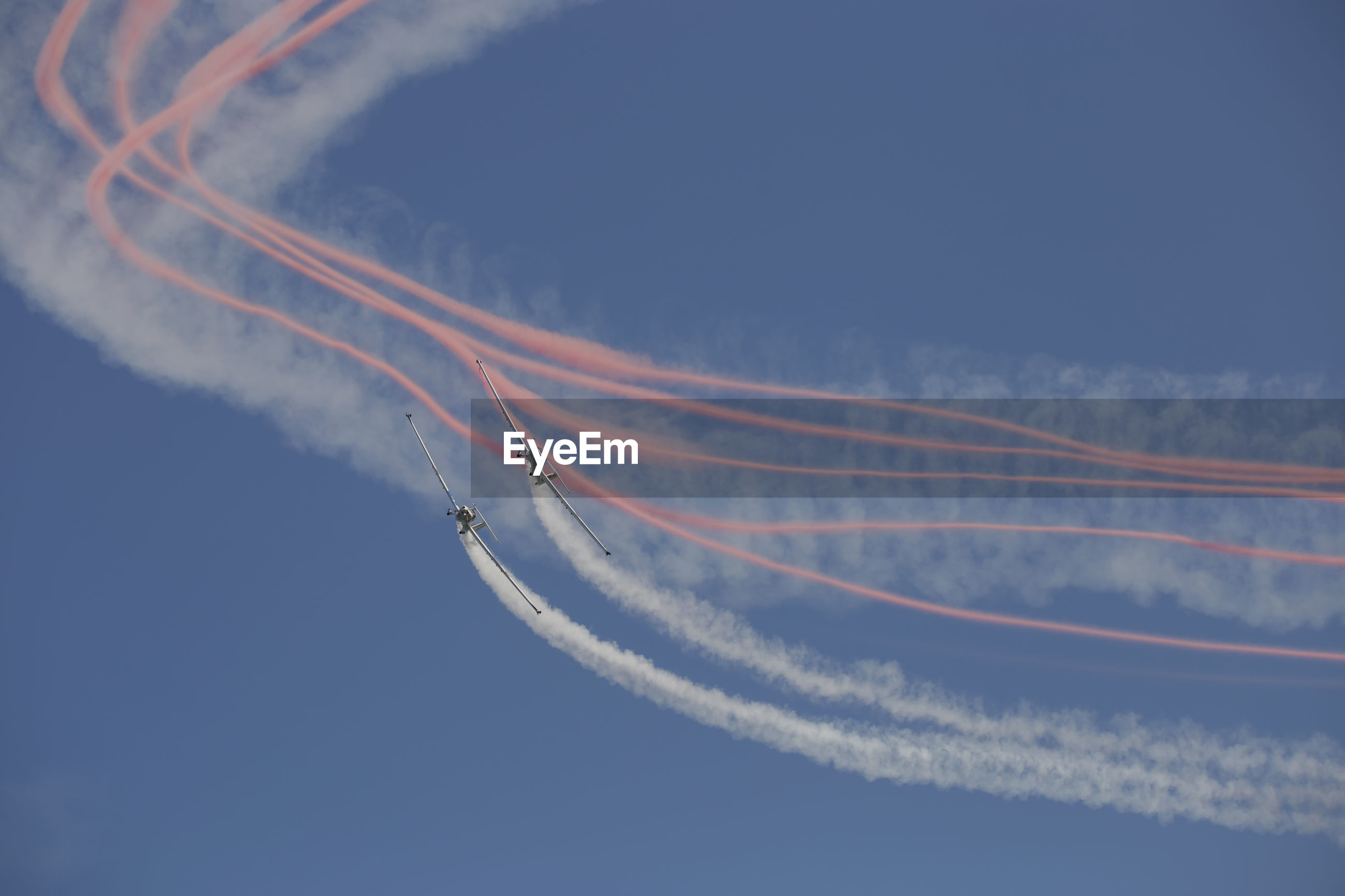 Aerobatics in an air show