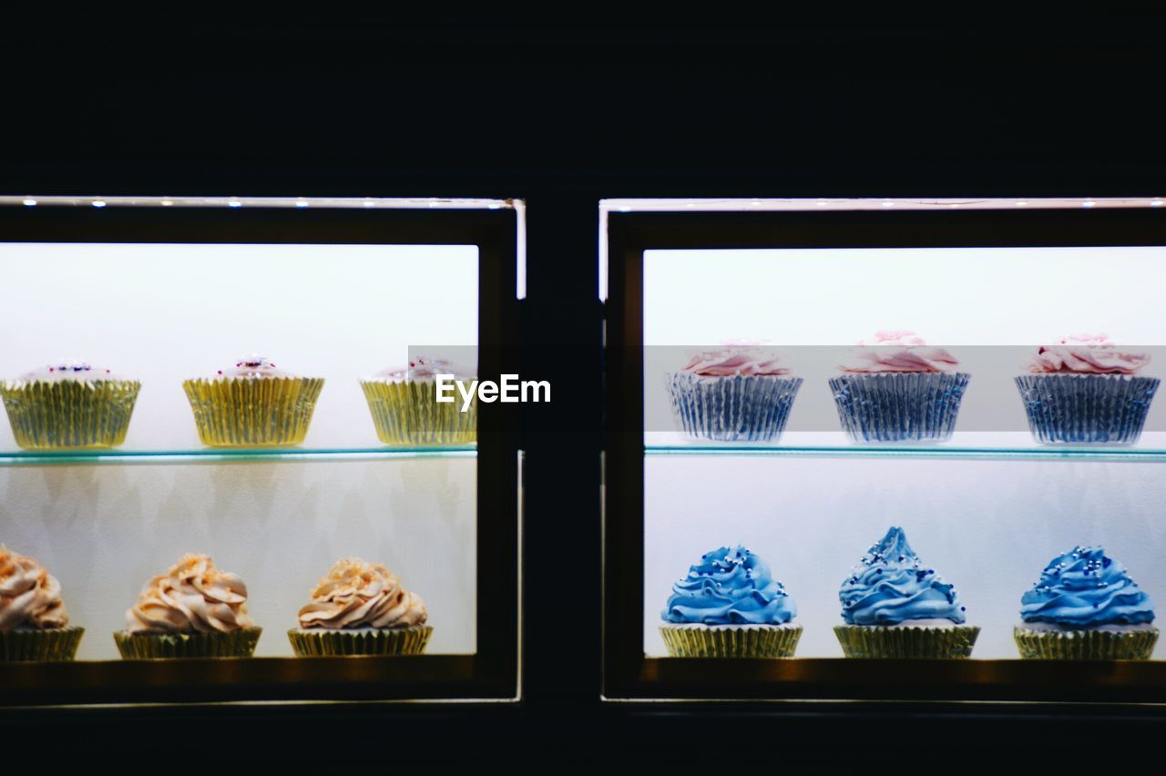 Various Cup Cakes On Display