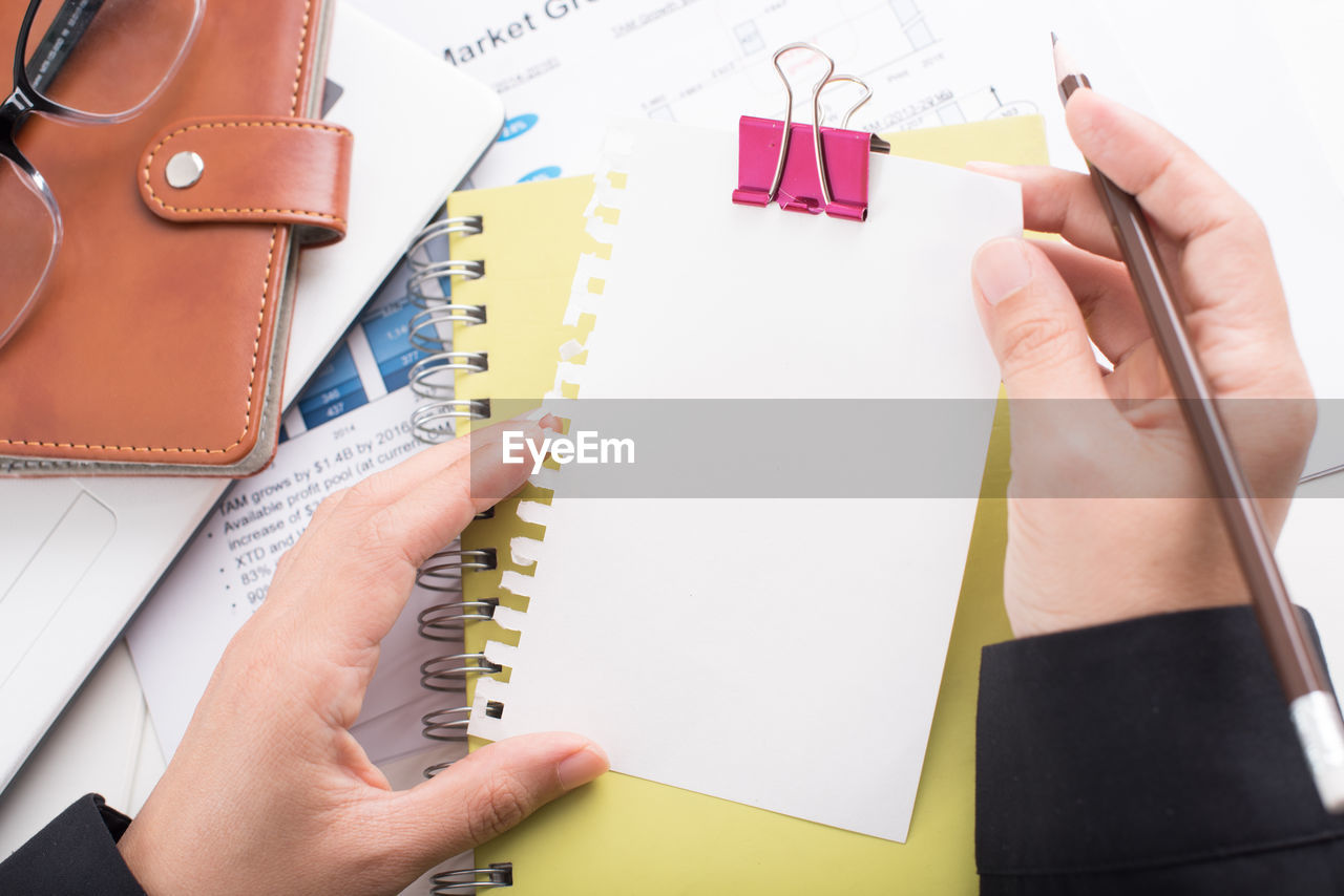 Businesswoman Working At Table In Office