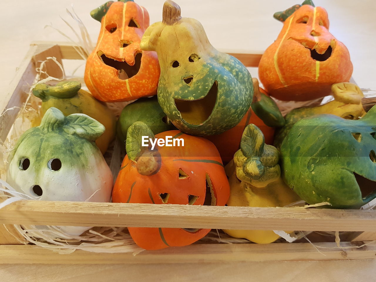 pumpkin, still life, art and craft, animal representation, food and drink, creativity, vegetable, no people, food, halloween, anthropomorphic face, freshness, basket, indoors, healthy eating, celebration, jack o lantern, close-up, day