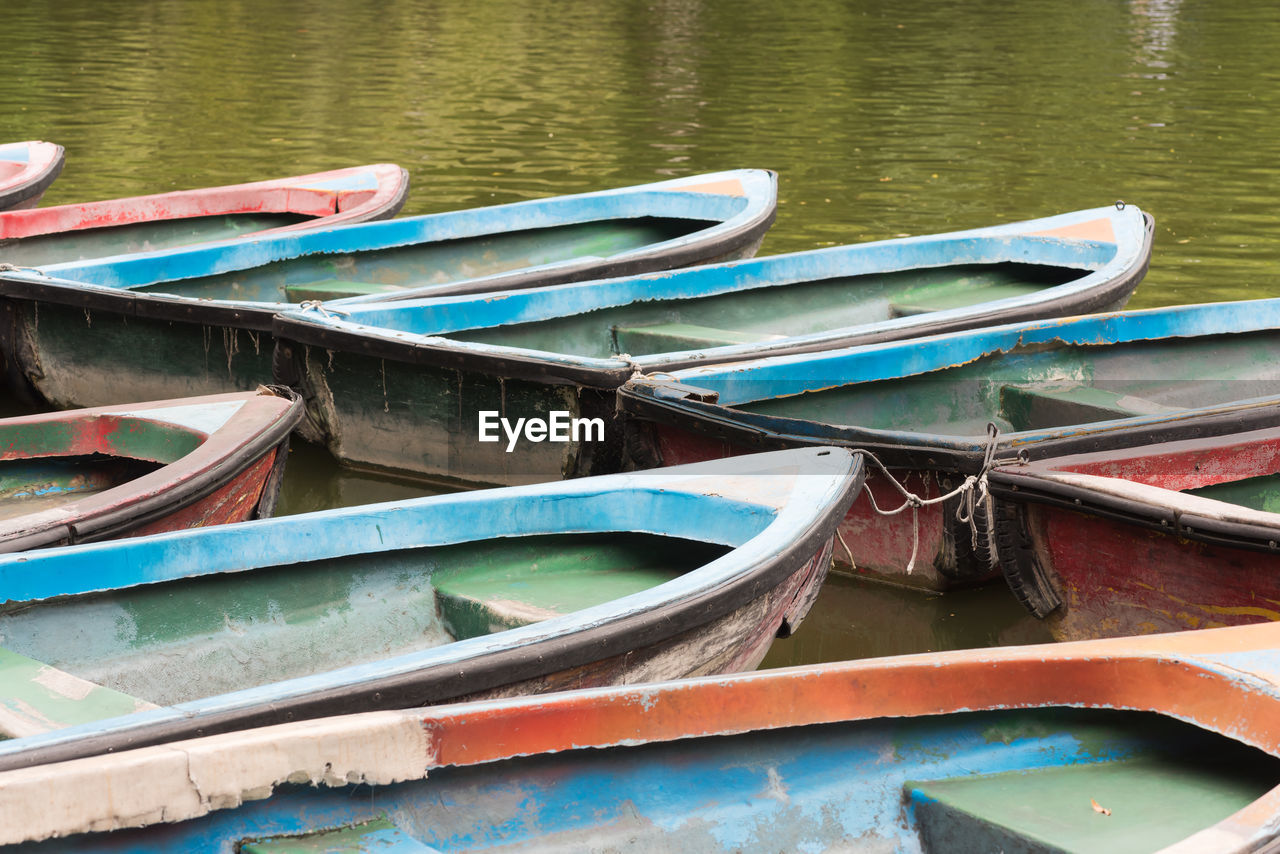 water, nautical vessel, day, no people, moored, outdoors, transportation, multi colored, nature