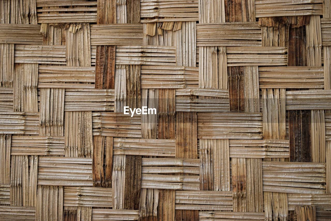 wood - material, backgrounds, pattern, no people, full frame, textured, brown, design, wood, day, architecture, close-up, repetition, built structure, outdoors, bamboo - material, shape, creativity, nature, wood grain, textured effect