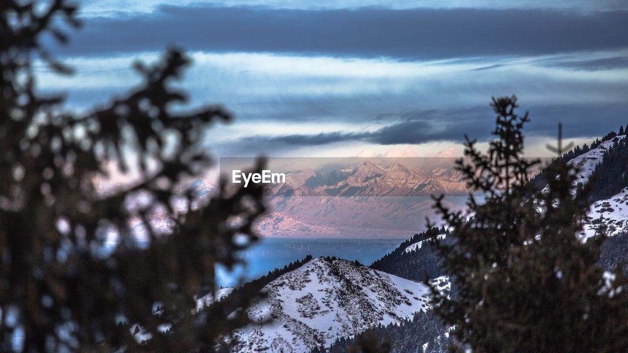 SCENIC VIEW OF TREE MOUNTAINS AGAINST SKY DURING WINTER