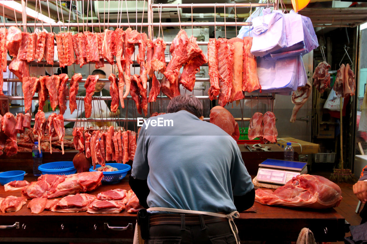 View of meat for sale