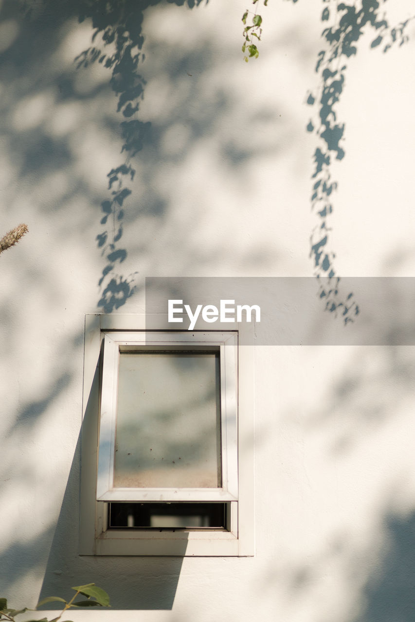 window, no people, nature, day, cloud - sky, outdoors, sky, reflection, glass - material, plant, architecture, building exterior, communication, focus on foreground, built structure, selective focus, close-up, technology, tree, transparent