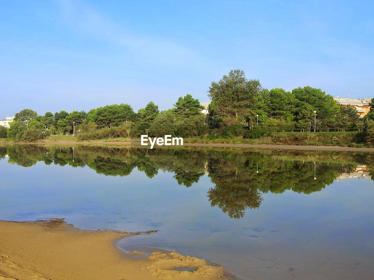 reflection, water, tree, nature, lake, sky, tranquil scene, outdoors, scenics, tranquility, no people, blue, beauty in nature, day