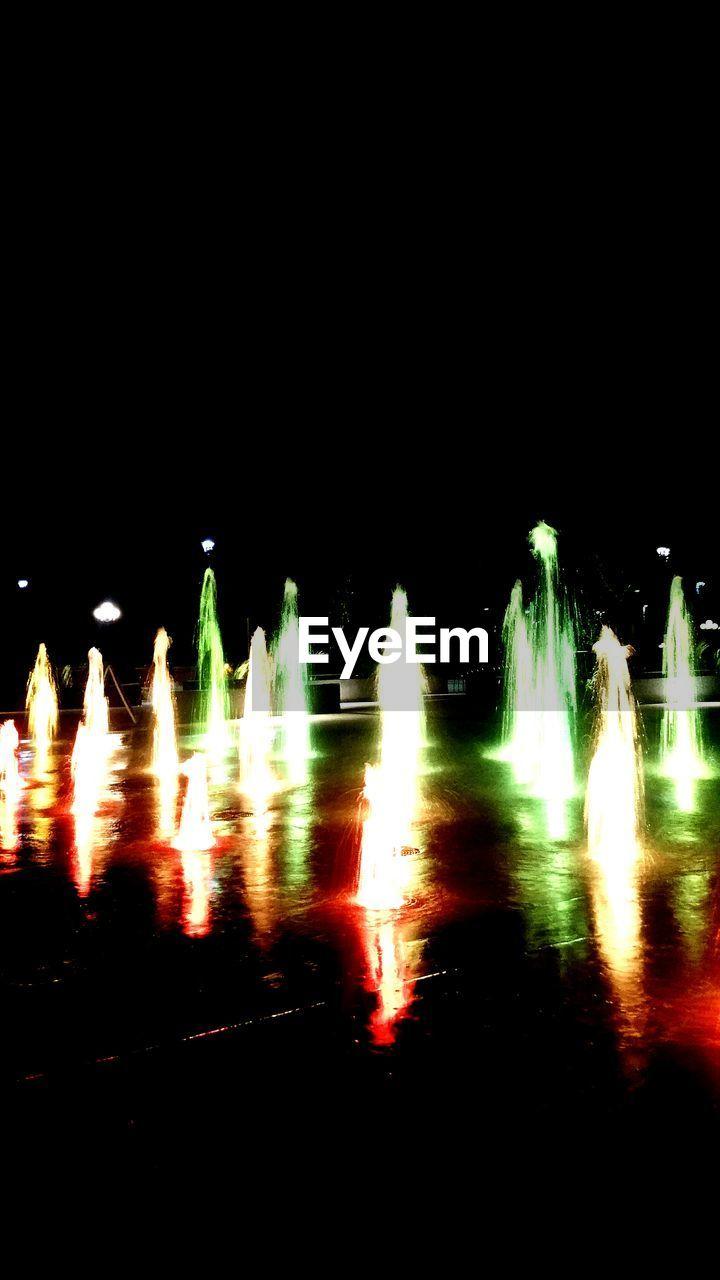 night, illuminated, outdoors, long exposure, no people, travel destinations, water, nature, sky