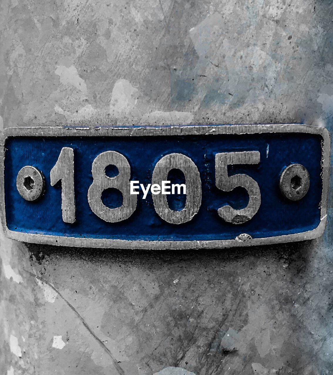 wall - building feature, blue, number, text, communication, textured, no people, paint, rusty, outdoors, close-up, day, architecture