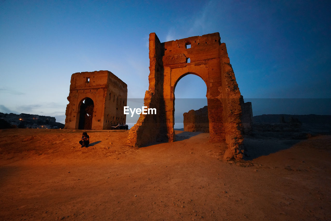 sky, the past, history, arch, architecture, built structure, nature, ancient, travel, tourism, clear sky, travel destinations, old, land, ancient civilization, blue, no people, monument, building exterior, outdoors, arid climate, archaeology