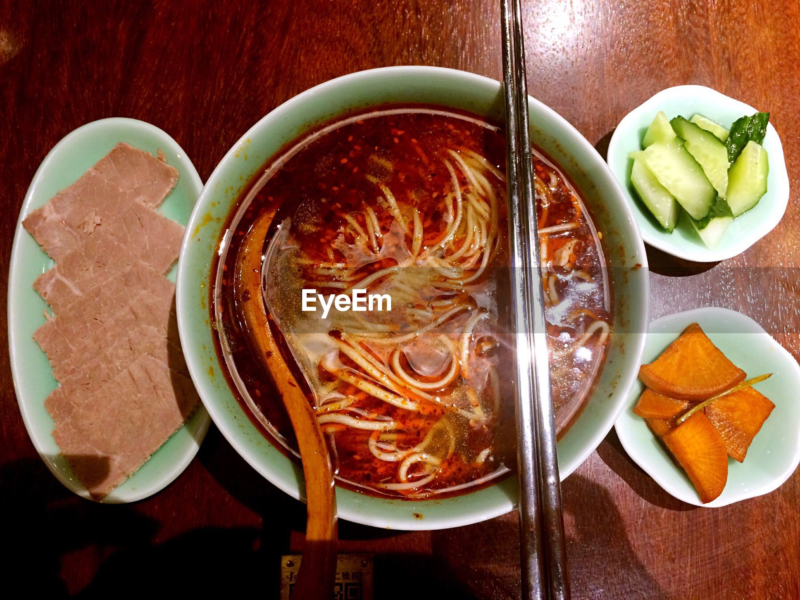 directly above, food and drink, freshness, food, table, ready-to-eat, indoors, savory food, healthy eating, plate, no people, bowl, serving size, noodles, soup, spaghetti, close-up, day