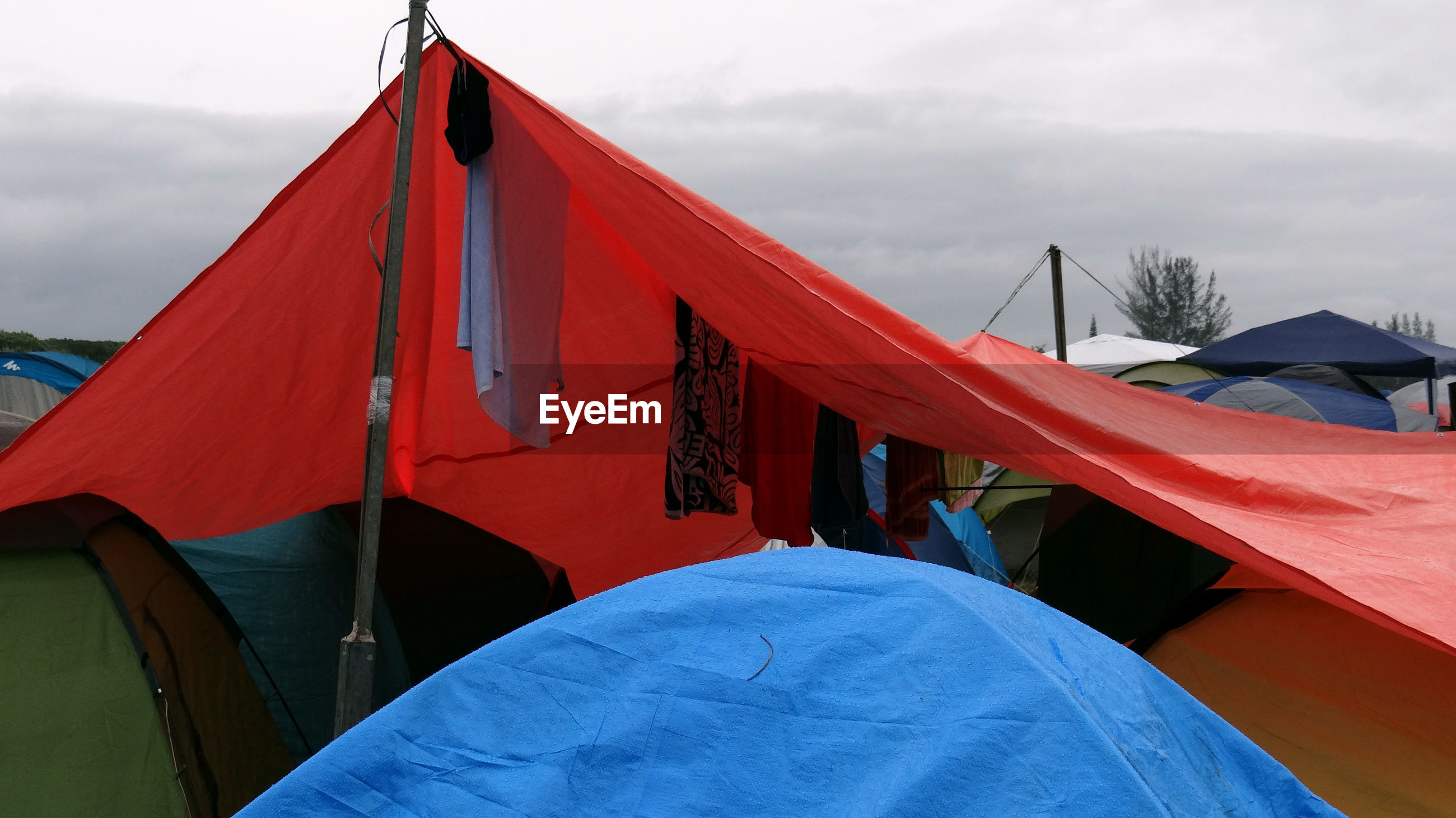 Clothes line in the tent