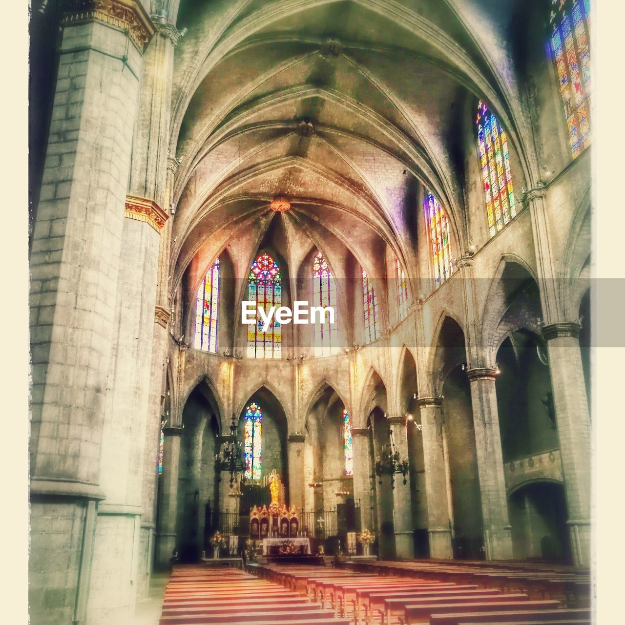 religion, arch, place of worship, spirituality, architecture, built structure, indoors, window, low angle view, no people, day
